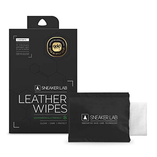 Sneaker LAB Leather Shoe Cleaner | 12 Individual Wipes Per Pack | 2 in 1: Cleaner & Conditioner | Welcome To The Future Of Shoe Care