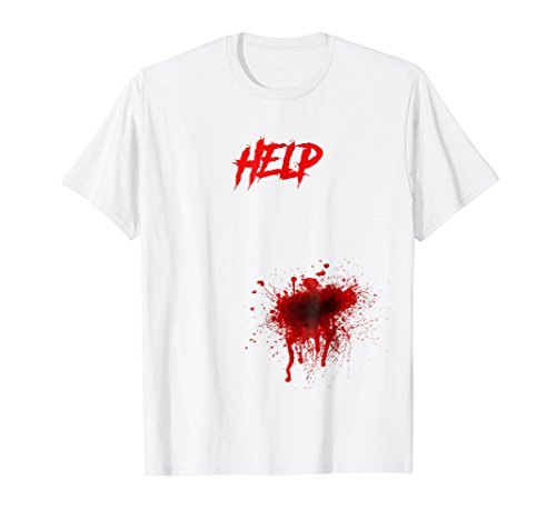 Scary Halloween Costume Shirt - Help Blood Stained Tee