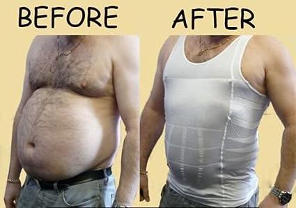 Men Body Slimming Tummy Shaper Belly Underwear shapewear Waist Girdle Shirt Vest