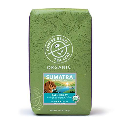 The Coffee Bean & Tea Leaf Organic Sumatra Mandheling Dark Roast Whole Bean Coffee Beans 12 ounce bag