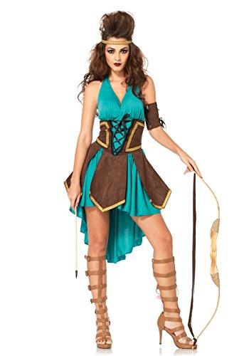 Leg Avenue Women's 3 Piece Celtic Warrior Costume, Turquoise, Small/Medium -