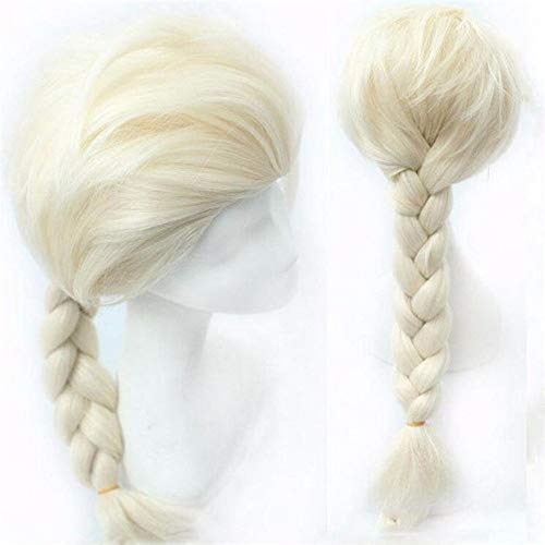 FengGa Cosplay Wig Frozen Doll Elsa Anna Snow Princess Series Anime Blonde Hair Girl - Party Lolita Custom Cosplay Party Wig with Free Wig Cap, Heat Resistant Wigs Hair Wigs Costume Wigs ()