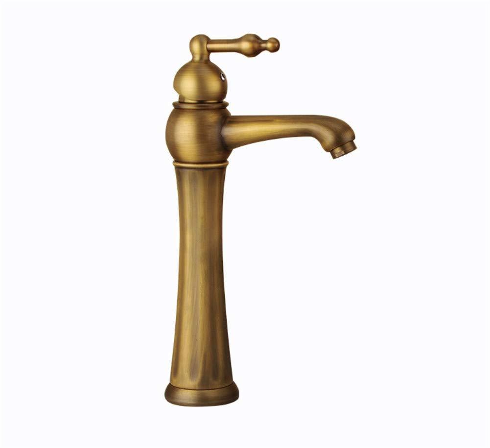 JONTON Wasserhahn Wasserhahn Wasserhahn über Gegenbecken antike Einlochmontage Küche Abwasch Geschirr Abwasch Geschirr Abwasch Becken Messing antik einzeln heiß und kalt gemäßcht