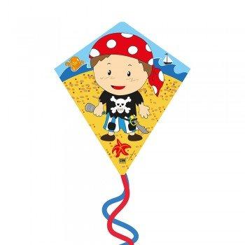 Kinderdrachen - Eddy-S DRAGON - Einleiner für Kinder ab 3 Jahren - Abmessung: 50x56cm - inkl. 40m Drachenschnur und Streifenschwänze Colours in Motion
