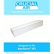 Aprilaire 201 Replacement Air Filter Fits Space-Gard / SpaceGard 2250 & 2200, Designed & Engineered by Crucial Air