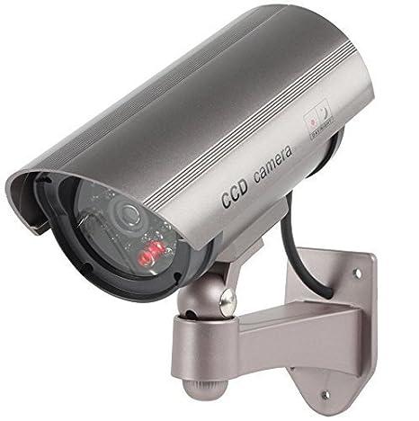 Profesional cámara Dummy con LED Intermitente LED parpadeante - La Vigilancia Ficticia CCTV IP44 en exteriores Cámara oculta Interior Exterior Fake ...