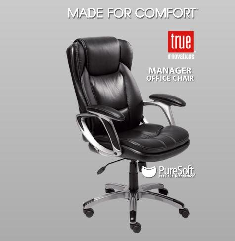 costco lane leather office chair. amazon.com: black leather manager office chair with deep soft body pillows: kitchen \u0026 dining costco lane
