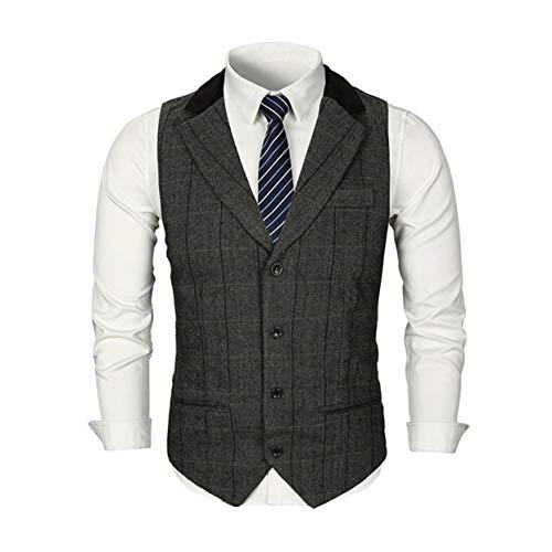 Pour Hommes Veste Manches En Sans Casual Col À Suit Tellaboull For Vest V 8qHx8f