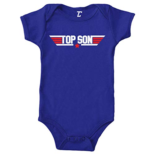 Top Son - Wingman Fighter Pilot Bodysuit (Royal Blue, Newborn)