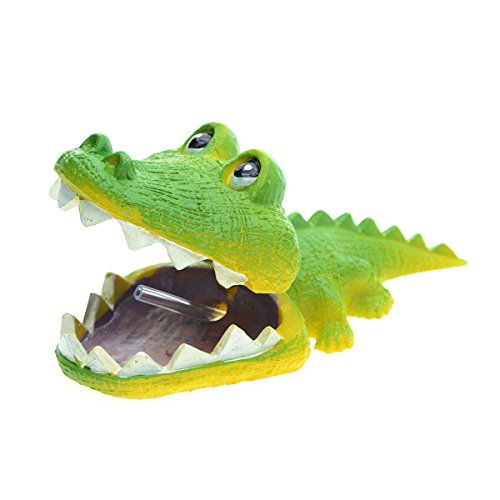 Saim Aquarium Resin Alligator Ornament Live Action Aerating Fish Tank Decoration ()