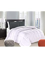 King Size Comforter by Casa Platino - Down Alternative Microfiber Comforter - Hypoallergenic and Ultra Soft - Made for All Seasons - for Kids and Adults - Provides Medium Warmth