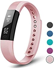 LETSCOM Fitness Tracker, Fitness Tracker Pedometer Watch with Slim Touch Screen and Wristbands, Wearable Activity Tracker as Step Counter Sleep Monitor for Kids Women Men