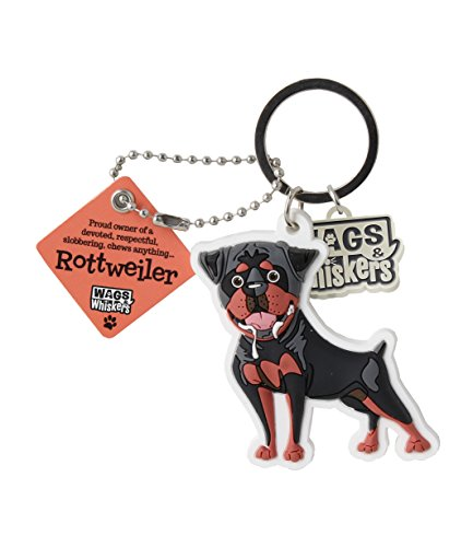 Wags and Whiskers Rottweiler Key Chain with Keyring/Key Holder (886767110714)