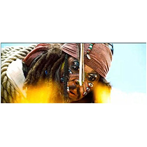 Pirates of the Carribean Johnny Depp Captain Jack Sparrow as Cannibal Jack Close Up Blowing Flames 8 x 10 Photo (Cannibal Caribbean Jack)