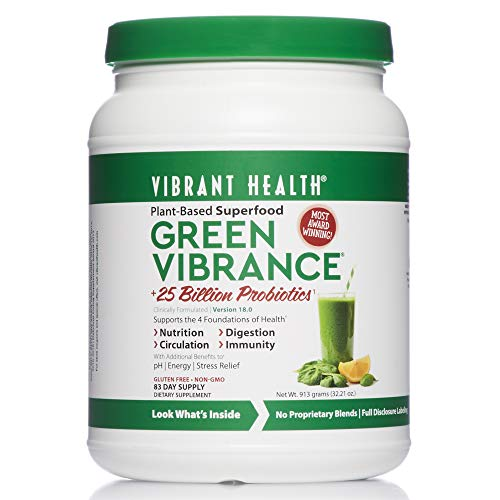 Vibrant Health - Green Vibrance, A Comprehensive, Restorative, Advanced Daily Superfood + Vegan D3, 82 Servings