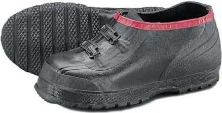 Overshoes, Men, 12, 2-Buckle, Blk, Rubber, PR
