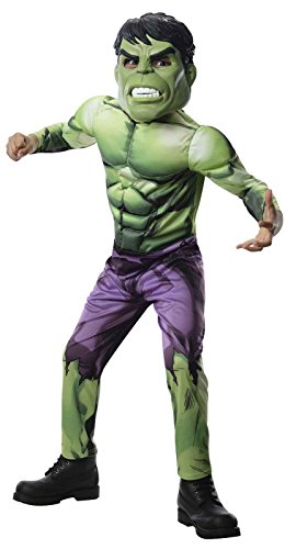 Rubies Marvel Universe Classic Collection Avengers Assemble Deluxe Incredible Hulk Costume, Child Small