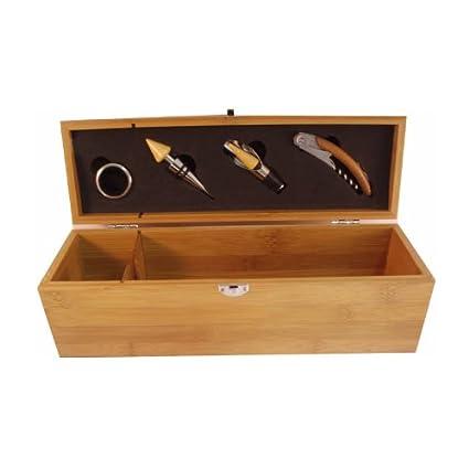 Pradel Excellence-Estuche de sumiller de madera de bambú ...