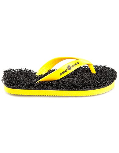 Mad Wave Kids' M0370 01 2 06W Slippers, Yellow/Black, Size 28