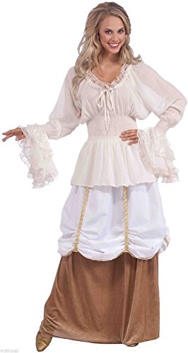 Medieval Lady White Costume Blouse Plus Size