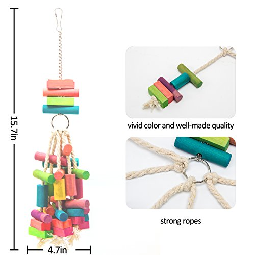 Image of MEWTOGO Bird Parrot Chewing Foraging Toys for Conures African Grey Parrot Toy