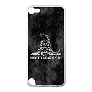 Best Custom Don't Tread On Me Gadsden Flag Cell Phone Case Cover for iPod Touch 5 TPU (Laser Technology) Case, Cell iPod Touch Cover
