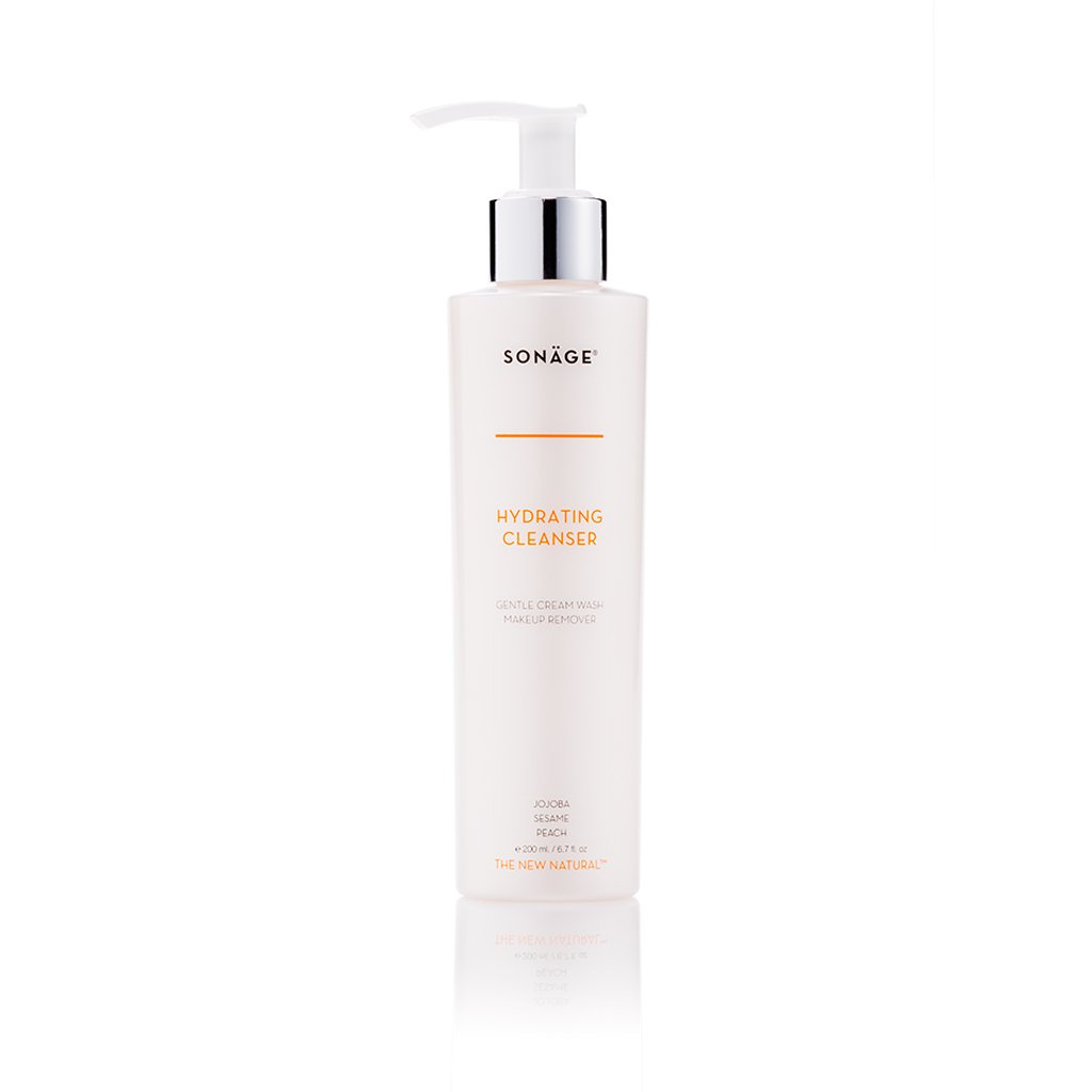 Sonage Hydrating Cleanser - Gentle Cream Cleanser for Daily Face Washing and Makeup Removal for Normal To Dry Sensitive Skin with Jojoba and Sesame Seed Oil - Non-Drying and Sulfate-Free