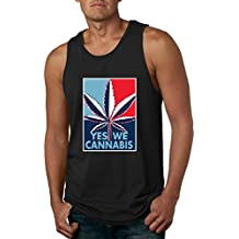 Yes We Cannabis   Poster Parody   Mens Weed Graphic Tank Top