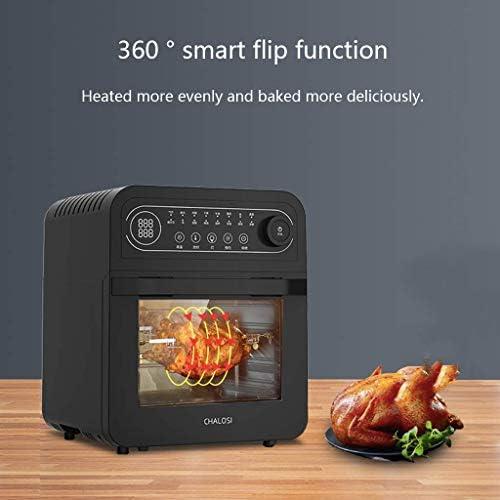 Heteluchtfriteuse Nieuwe volautomatische huishoudelijke frituurmachine retro-knopontwerp eenvoudig bedieningspaneel capaciteit van 12 liter voor eenvoudige reiniging