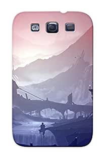 HfgTvsT5445NLXtM Premium Futuristic Harbor Back Cover Snap On Case For Galaxy S3