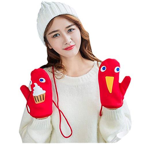 Stampato Winter Da 1 Guanti Muffole Masticare Donna Warm Con Motivo Accogliente Fashion zFW6WRZq