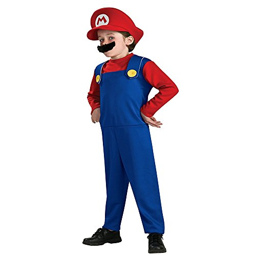 Besties Shop Halloween Costumes Super Mario Luigi Brother Boys & Girls Dress Set - Red