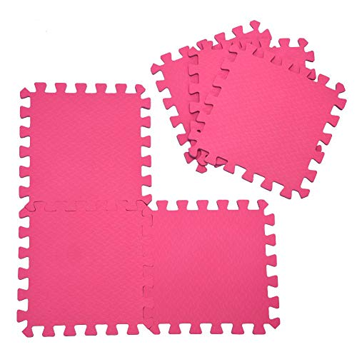 Yosooo Interlocking Floor Mat, EVA Foam Puzzle Tiles, Protection Mats, Children's Soft Foam Eva Play Mats for Gym, Play Area, Exercise