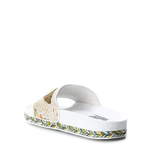 Cassé Femme Bout 48031 Blanc Xti White Sandales Ouvert BIwYCnxfq