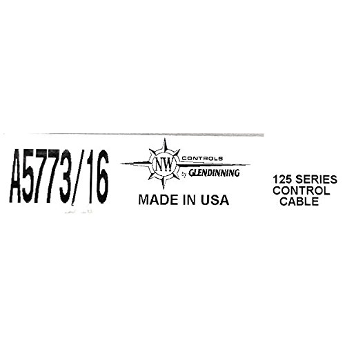 Glendinning Products Boat Control Shift Cable A5773/16 | 16 Feet 43C Heavy Duty