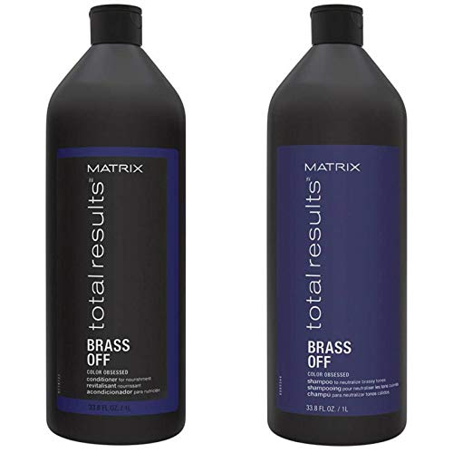 Matrix Total Results Brass Off Color Obsessed Shampoo & Conditioner, 2Count