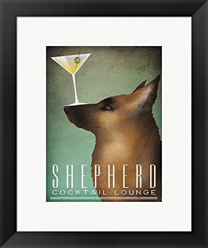 Shepherd Martini by Ryan Fowler Framed Art Print Wall Picture, Black Frame, 16 x 19 inches