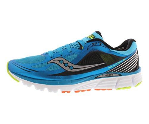 Saucony Men's Kinvara 5 Running Shoe,Blue/Black/Citron,10.5 M US