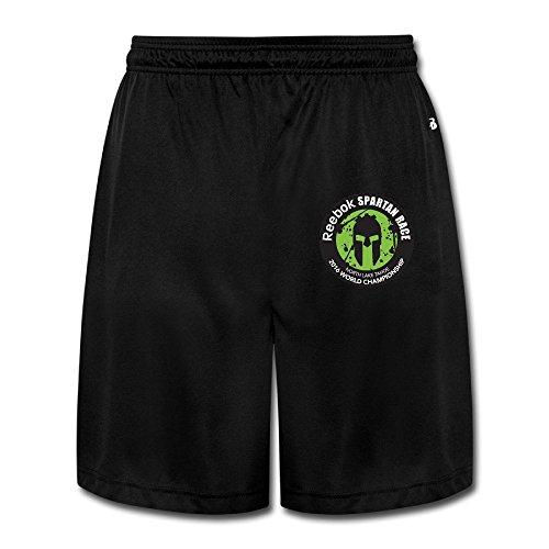 (GGMMok Men's Reebok Spartan Race 2016 Logo Shorts Sweatpants)
