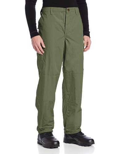 - TRU-SPEC Men's Polyester Cotton Rip Stop BDU Pant, Olive Drab, Small Long