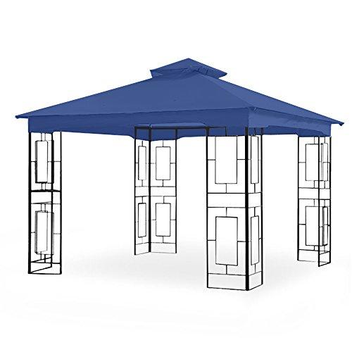 Garden Winds Replacement Canopy for Garden Treasures Geo 10ft Gazebo – Riplock 350 – True Navy