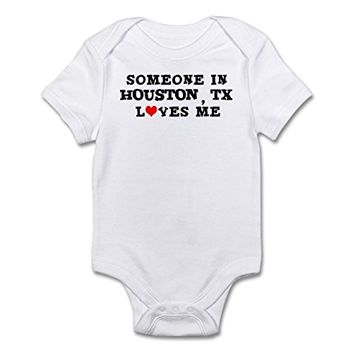 CafePress Someone In Houston Infant Creeper - Cute Infant Bodysuit Baby Romper -