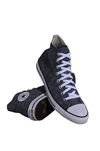 155371F MEN CHUCK TAYLOR ALL STAR HI CONVERSE OBSIDIAN ASH GREY WHITE