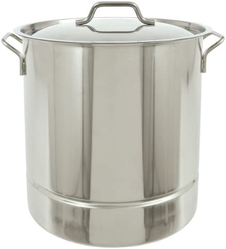 Bayou Classic 1308 Stainless Tri-Ply Stockpot with Vented Lid, 8-Gallon