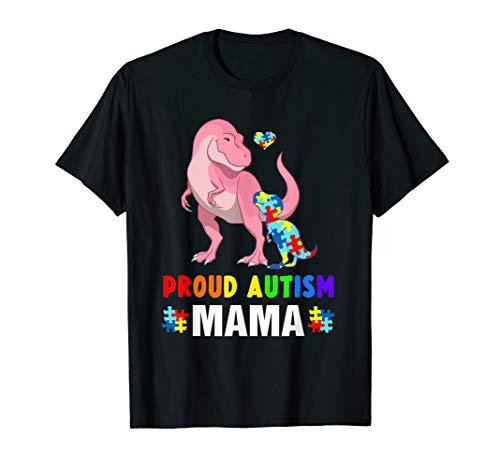 Dinosaur T-rex Proud Autism Mama Shirt Gift for $<!--$16.98-->