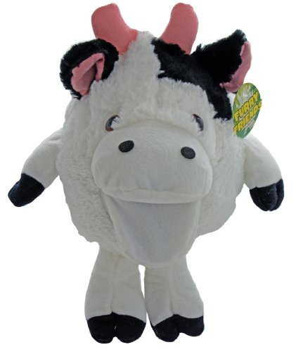 Shaggy Sidekicks Plush Stuffed Animal Toys - Plush Cow Hand Puppet - Moos With Hand Movement - Sale On Now! ()