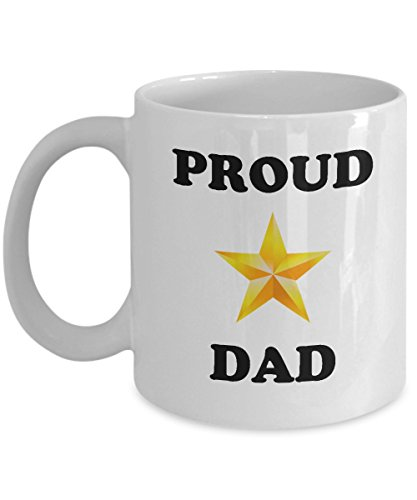 Proud Gold Star Dad Mug - Military Coffee Mug (Navy Deployment Care Package Ideas)
