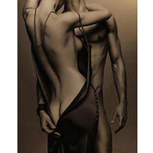 Makaor 5D DIY Diamond Painting Men&Women Embroidery Full Square Diamond Bedroom Home Decor Gift (36cmx36cm, Gray)