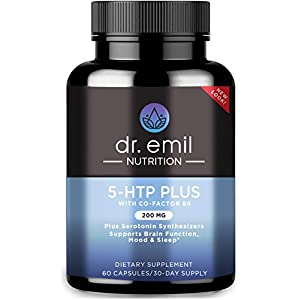 Gut Health Shop 41NMWuweIqL._SS300_ Dr. Emil Nutrition 200 MG 5-HTP Plus Serotonin Synthesizers and Cofactor B6 for Improved Serotonin Conversion for…