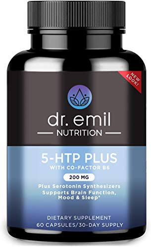 Dr. Emil Nutrition 200 MG 5-HTP Plus Serotonin Synthesizers and Cofactor B6 for Improved Serotonin Conversion for…